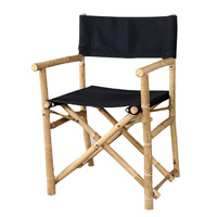 Vietnam imported bamboo canvas folding chair outdoor portable leisure beach fishing director