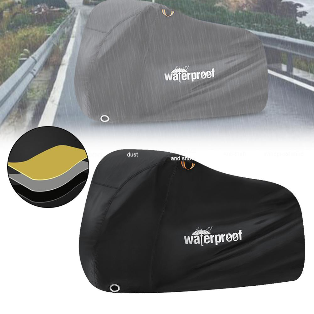 Capa da motocicleta bicicleta durante toda a temporada à prova ddustágua uv proteção ao ar livre indoor moto scooter capa de chuva 210t