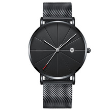 Stainless Steel Sports Mens Watches Business Leisure Quartz