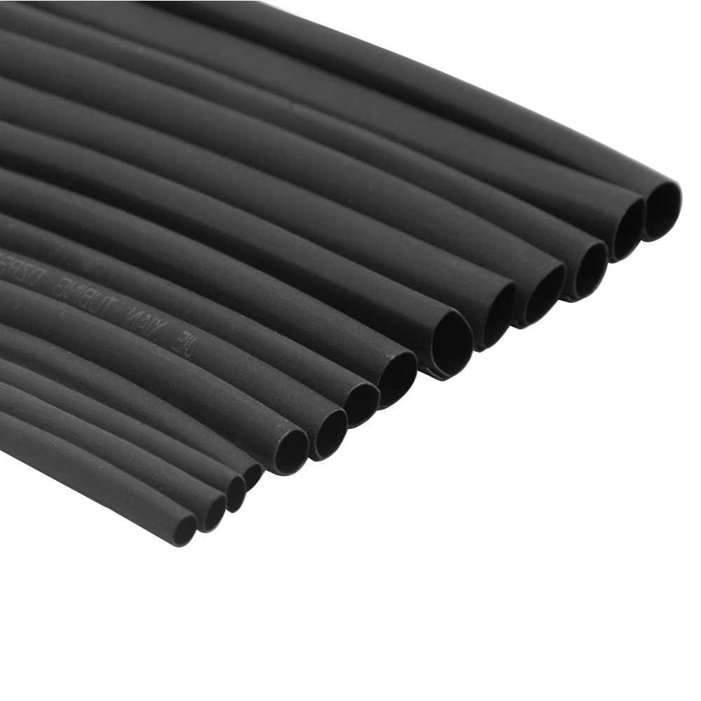 1 metre 2:1 siyah 1 2 3 4 5 6 7 8 10mm çap isı Shrink Heatshrink boru tüp sleeving Wrap tel satmak DIY bağlantı onarım