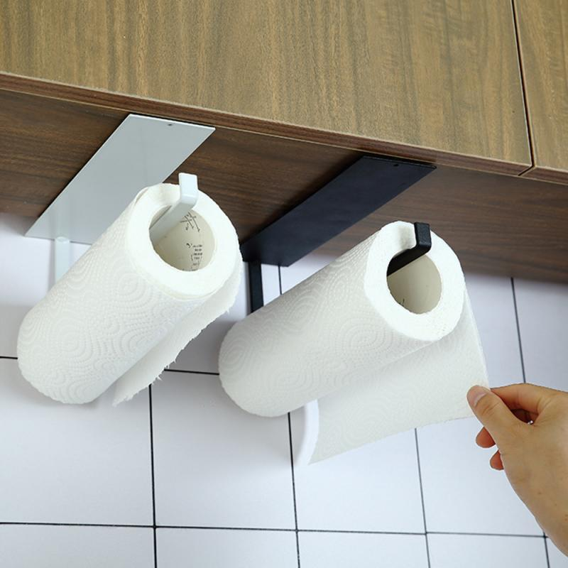 Dropship Kitchen Toilet Paper Holder Tissue Holder Hanging Bathroom Toilet Paper Holder Roll Paper Holder Towel Rack Accessories