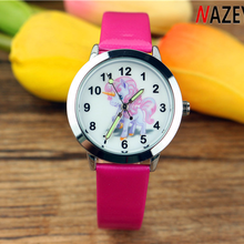 New girl cartoon unicorn cute kids watch anime with luminous