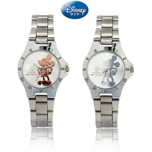 New Kind of Mickey Mouse Gold Silver Watch with Steel Belt Fashion for Primary a