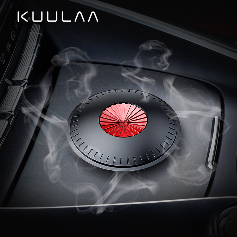KUULAA Alloy Car Air Freshener Perfume Fragrance Auto Aroma Diffuser Aromatherapy Solid Air Outlet Dashboard Perfume Holder