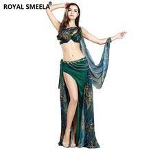 4 Piece Women Suit Bra+skirt+Belt +armbands Belly Dance Cost