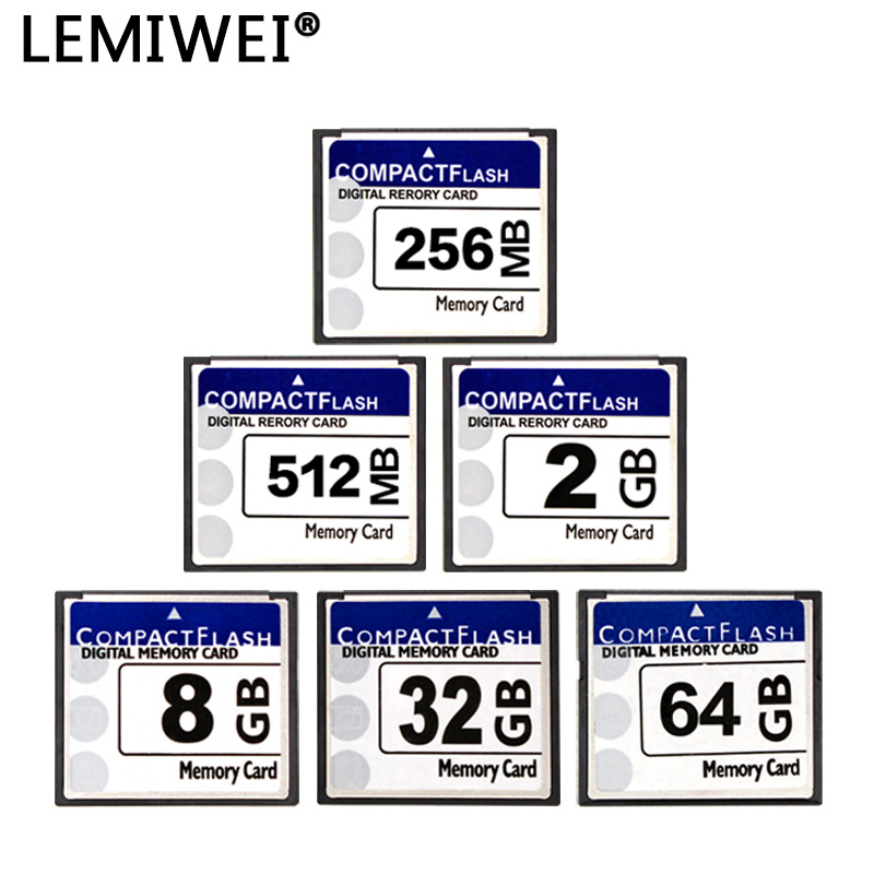 LEMIWEI Compact Flash Card 256MB 512MB 1GB 2GB 4GB 8GB 16GB 32GB 64GB Compactflash Memory Card CF Card For Camera