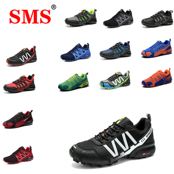 SMS 2020 New Men Shoes Sneakers Breathable Outdoor Mesh Hiking Shoes Casual Light Male Sport Shoes Comfortable Climbing Shoes цена 2017