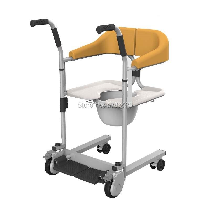 Горячая Распродажа, стул-комод, стул-комод для туалета, ручное кресло-коляска с ручкой и подшипником для унитаза 120 кг