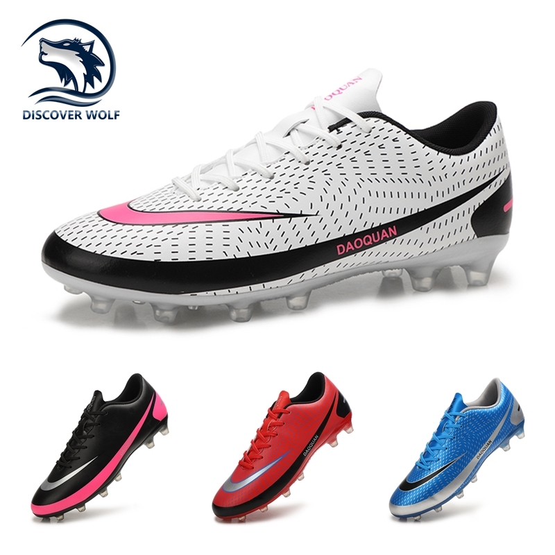 2021 New Arrival Men's Soccer Shoes Large Size Ultralight Football Boots Boys Sneakers Non-Slip AG/TF Soccer Cleats Ankle Boots 1