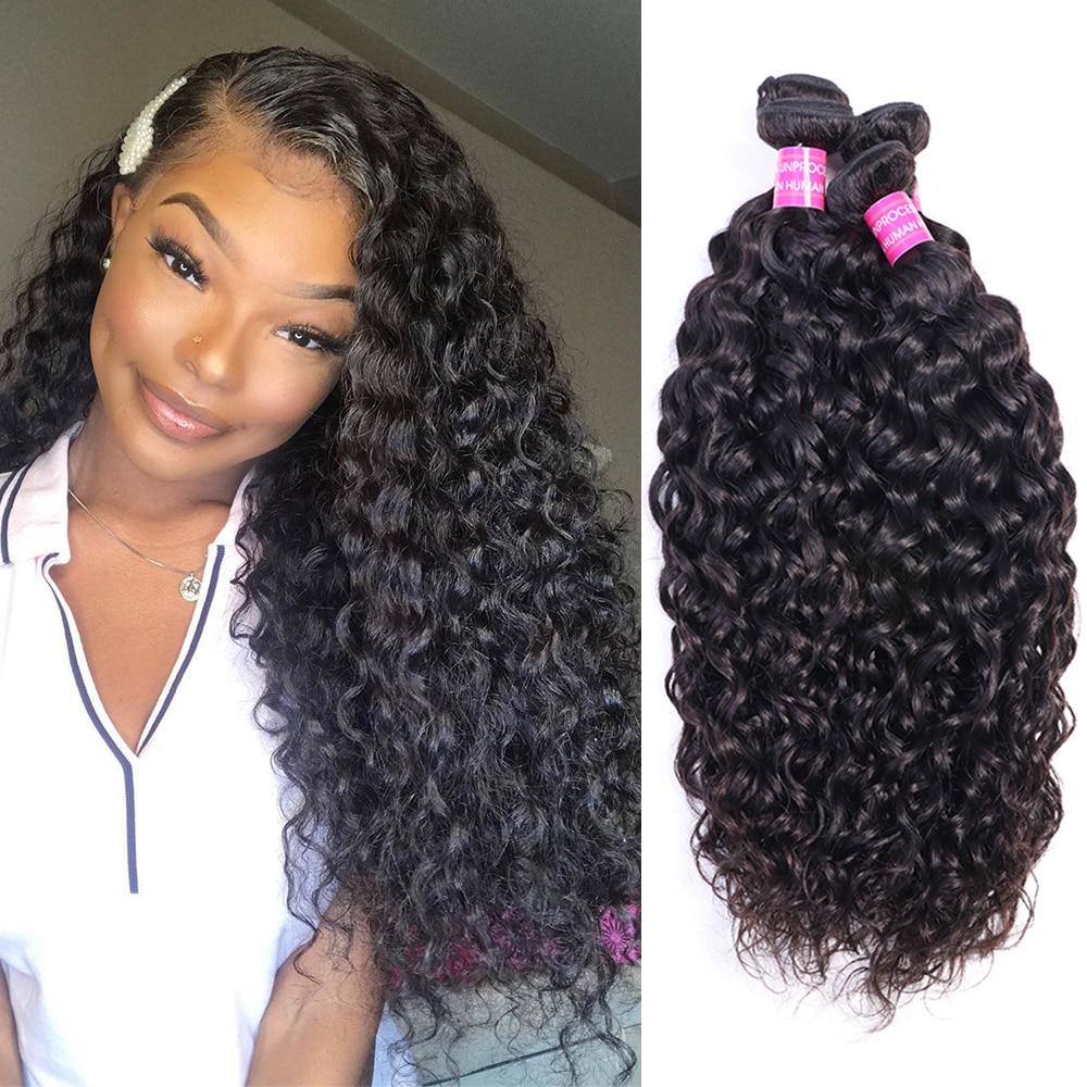 Bundles Hair Weaving Water Wave 10A Remy hair extension 8 30 inches 1/3/4 Bundles deals Brazilain Deep Wave Bundles