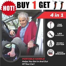 Emergency-Glass-Breaker BUY 1-Get 2-Car Cane-Handle Aid-Stand Seatbelt-Cutter Grab Bar-Door-Support