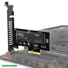 Ampcom m.2 nvme ssd express cartão m chave para pcie 3.0 x4 adaptador externo ssd suporte 230-2280 tamanho m.2 velocidade total