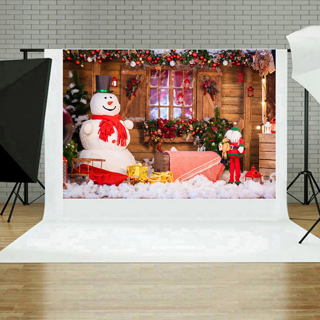 1PC Christmas Decoration Photo Background Backdrop for Studio Vedio Shooting Prop Cloth Photography Backdrops