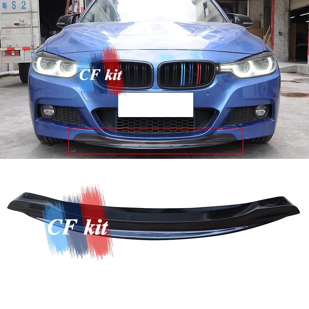 Cf Kit Rkp Stijl Real Carbon Fiber Lip Spoiler Voor Bmw F30 F31 Model M TECH Voorbumper M Sport auto Styling-in Bumpers van Auto´s & Motoren op title=