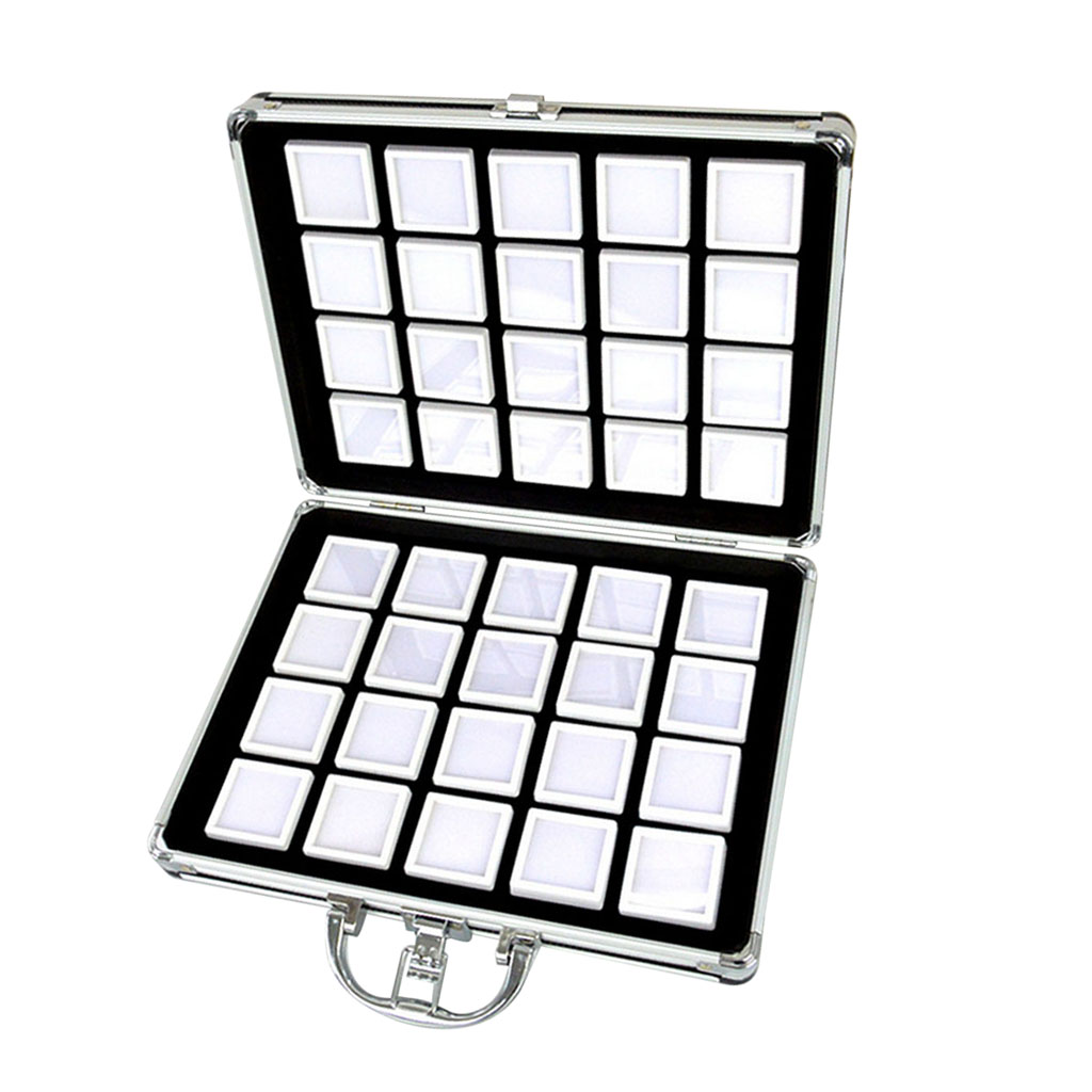 En Alliage d'aluminium Portable Diamant mallette de rangement Simple Fille EarringsTool Diamant Peinture Perles De Pierres Précieuses Organisateur