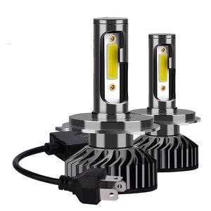 Infitary автомобильный налобный светильник H7 светодиодный H4 H1 H11 H3 H13 H27 9006 9007 72 Вт 6500 К 12 В, налобный фонарь COB дальнего и ближнего света, противоту...