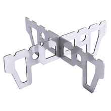 Alcohol Stove Stand Rack Spirit Burner Base Bracket Stainless Steel Rack Outdoor Tools(China)