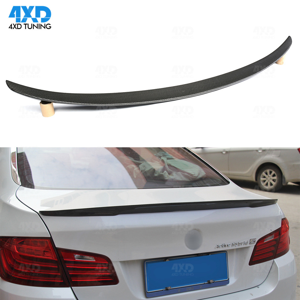 F10 Carbon Fiber Spoiler For BMW F10 M5 528i Runk Trunk Spoiler Wing Performance Style 2010-2013 2014 2015 2016 2017 2018 2019