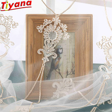 Elegant Luxury Rope Embroidery Yarn Curtains for Living Room Noble Fower Embroider Sheer Tulle Voile for Bedroom WH123#30