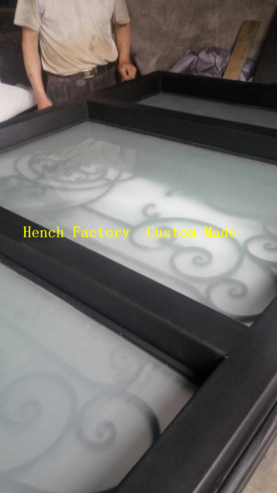Shanghai Hench Brand China Factory 100% Custom Made Sale Australia Iron Double Front Door
