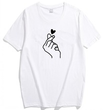 New Arrival Women T Shirt Graphic Love Hand Funny  Summer Tops Tee Shirt Femme Hipster Tshirt
