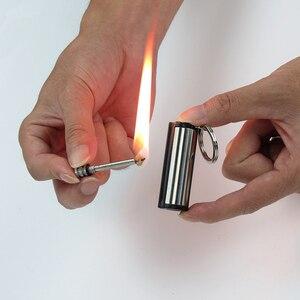 Thousands Of Times Flint Fire Starter Matches Match Lighter Keychain kerosene Free Fire Lighter Outdoor Camping Survival Tools(China)