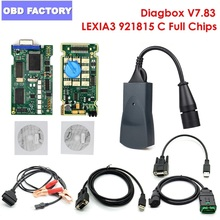 Lexia 3 Diagbox V7.83 Full Chip Lexia Tester for Peugeot Lexia PP2000 V25/V48 FW 921815C Lexia Citroen Diagnostic Scanner Lexia3 2018 a vas5054 full chip oki chip more stable bluetooth moudle vas 5054a odis 3 0 3 4 2 3 support uds protocol diagnostic tool