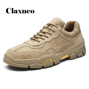 CLAXNEO Man Leather Shoes Fashion 2020 Spring Summer Casual Shoe Male Suede Sneakers clax Mens Walking Footwear Design