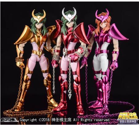 grandes brinquedos andromeda shun v3 ex pano final ex gt oce ouro bronze saint seiya figura