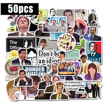 50pcs/set Friends OFFICE TV SHOW Waterproof Fun Sticker Toy Luggage Sticker Motorcycle and Luggage Notebook DIY Sticker F3