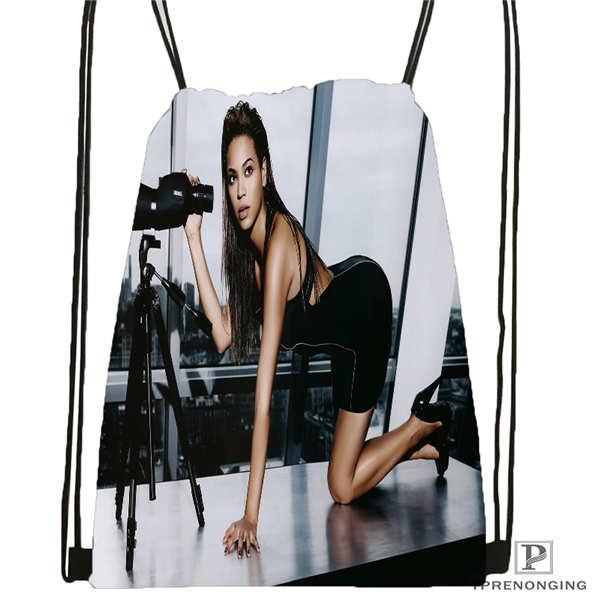 Custom HT_beyonce_jay_z_mona Drawstring Backpack Bag Cute Daypack Kids Satchel (Black Back) 31x40cm#2018612-01-32