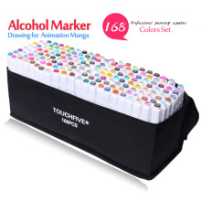 art markers sets 168 Colors set Anime student design sketch manga alcohol marker pen for drawing white black pen