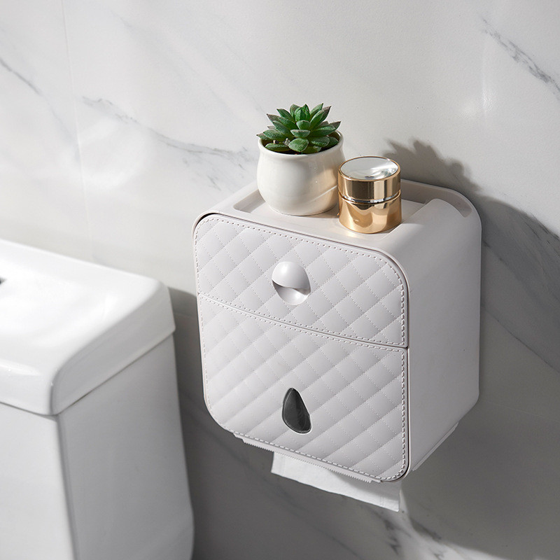 Toilet Roll Holder Waterproof Paper Towel Holder Wall Mounted Wc Roll Paper Stand Case Tube Storage Box Bathroom Accessories