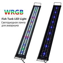 Eco Aquarium LED Lighting WRGB Fish Tank Decoration Lamps Coral Water Grass Landscaping Plant Grow Lighting Aquarium Bracket Lam