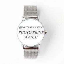 Все Серебряный дизайн ваши собственные часы японский кварцевый