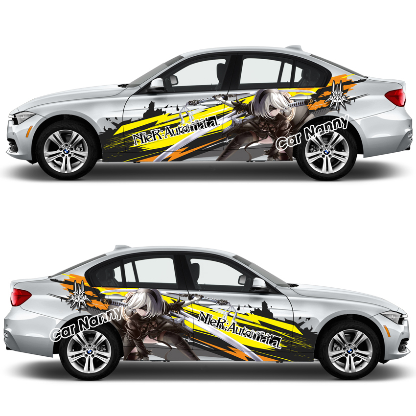 Customize Itasha Decals NieR:Automata Game Anime Stickers Auto Door Body Stickers Drift Racing Decal Car Accessories