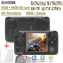 HANHIBR ips rs97 Plus Double system Retro Game Console 40 Emulators 64bit 3.0inch ips screen Handheld Game Player PS1 console