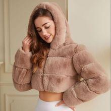 Women's Faux Fur Coat Autumn Winter Warm Soft Zipper Fur Nice Elegant Female Jacket Plush Overcoat Pocket Ladies Casual Outwear