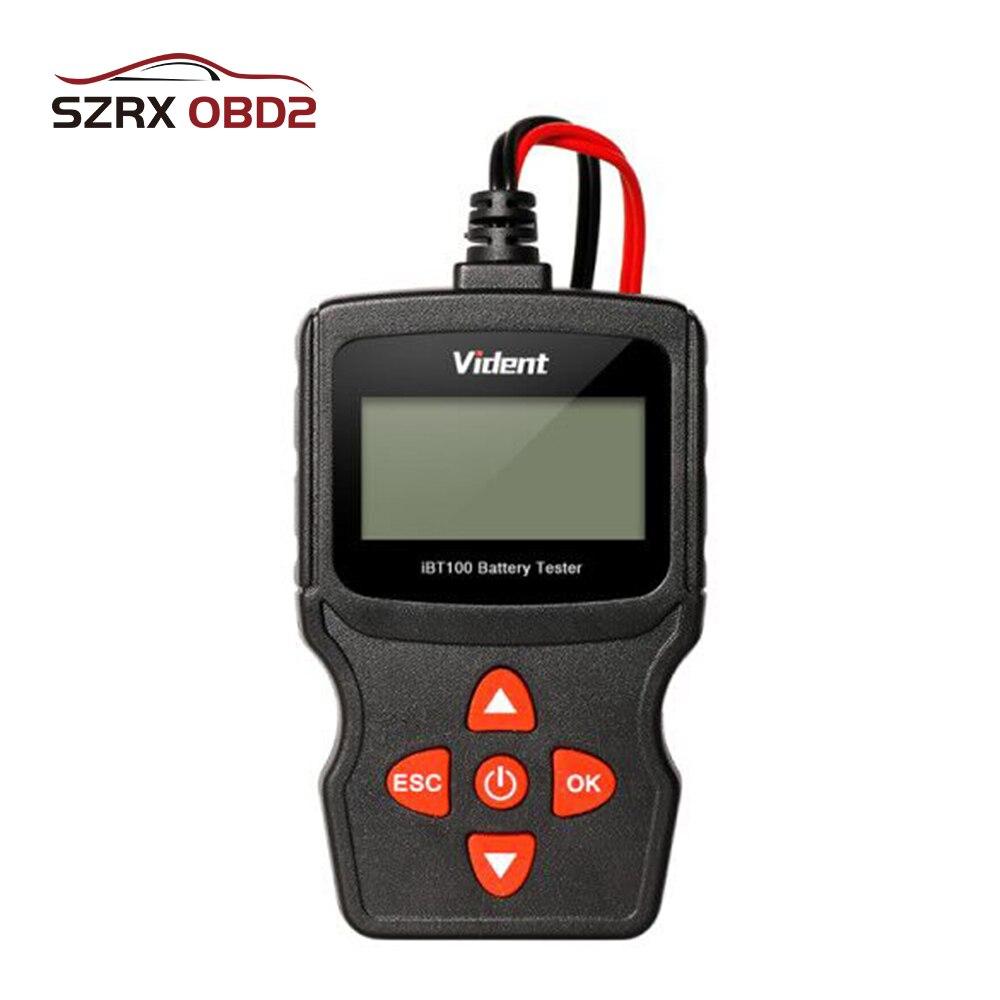Automotive Analyzer BT100 6V to 18V Car Battery Tester For Flooded AGM GEL 100 to 1100 CCA 200 AH Test 6 V 12 Volt