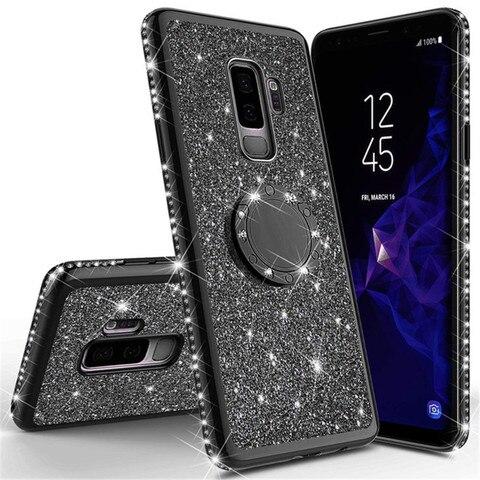 Shining Glitter Magnetic 360 Finger Ring Case For Galaxy S10 S10e S8 S9 Plus A5 A7 2018 A6 A8 Note 8 9 Bling Diamond Back Cover Pakistan