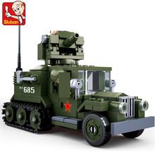 243Pcs Military World War 2 WW2 Half-Tracked Truck Building Blocks Soldiers Figures Toys LegoINGLs ARMY Bricks Christmas Gifts