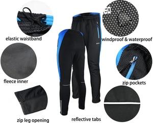 Image 4 - Arsuxeo Mannen Thermische Fleece Fietsen Jacket Set Mtb Jersey Winter Winddicht Sportkleding Fiets Broek Fiets Past Kleding 16HH