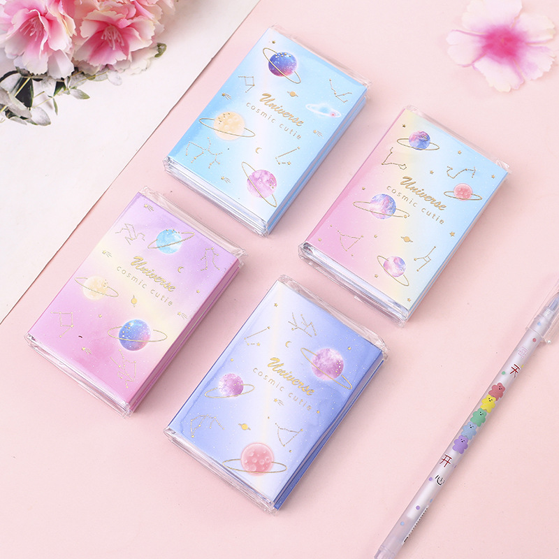 Cosmic Cutie Planetary World 6 Folding Memo Pad N Times Sticky Notes Memo Notepad Bookmark Gift Stationery