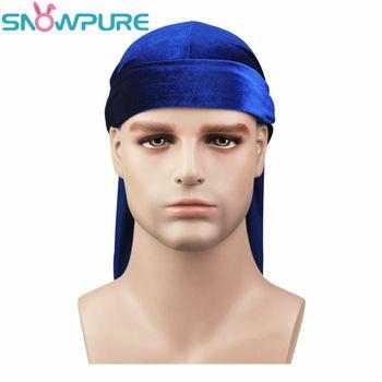 Fashion Men's Satin Durags Bandanna Turban Wigs Pirate Hat Men Silky Durag Headwear Headband 4