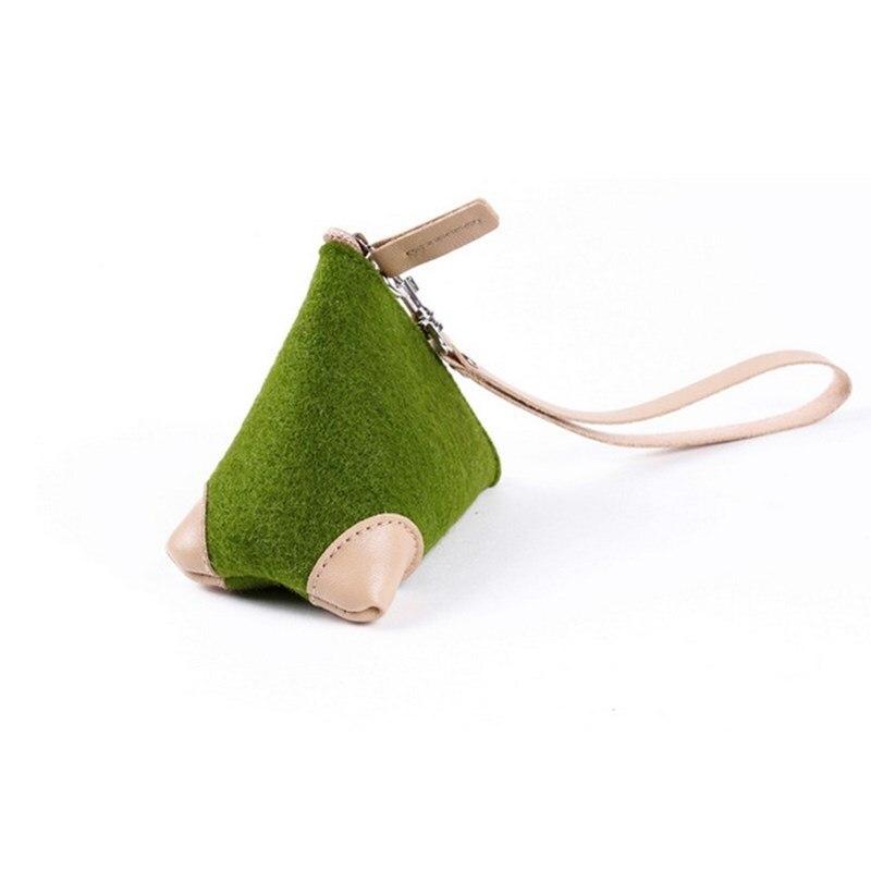 Mini Multi-color Felt Rice Dumpling Purse Coin Bag USB Drive Storgage Bag Key Add Logo Creative Gifts