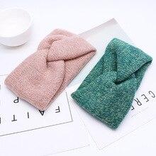 Весенне-осенняя однотонная Детская повязка на голову для девочек; мягкие эластичные повязки на голову для маленьких девочек; аксессуары для волос; повязка на голову