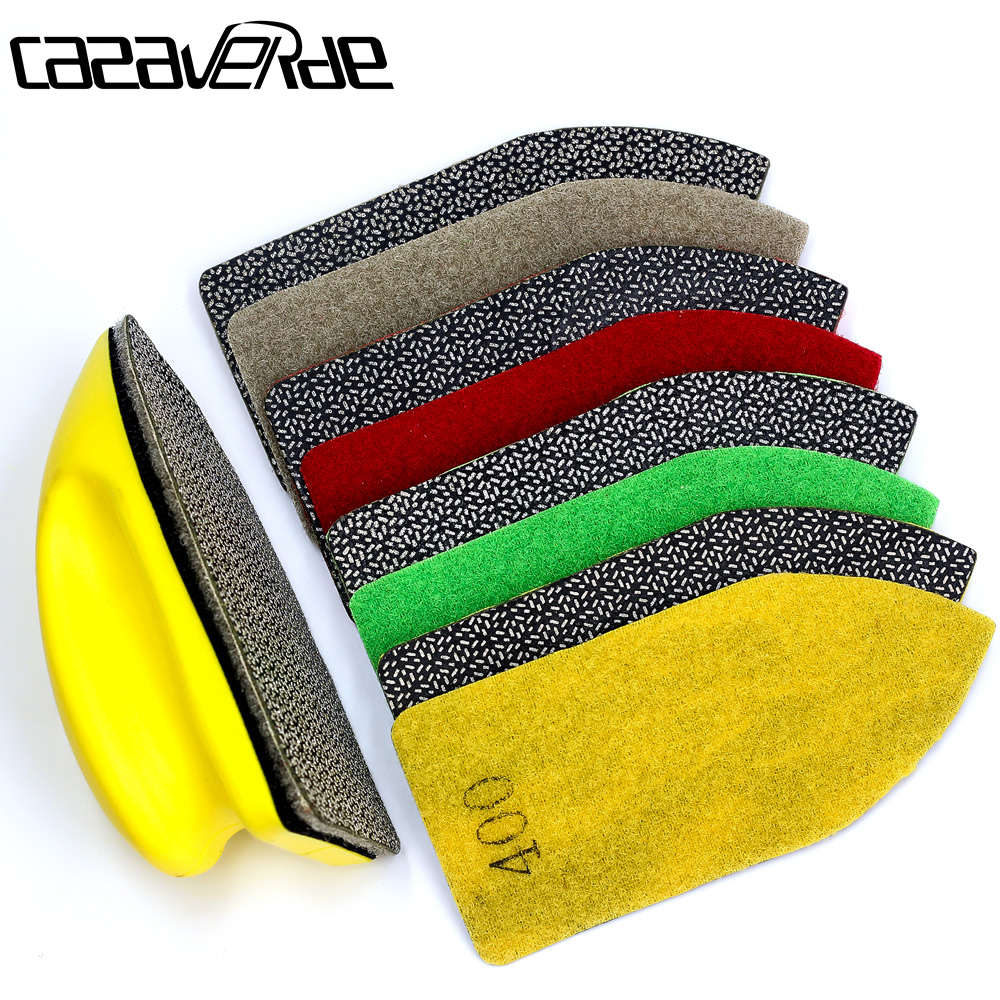 Arrow Type 120*55mm Electroplated Hand Polishing Pad For Polishing Glass Stone,tiles,aluminum And Iron Steel