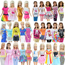Dress Skirt Pants Vest Shirt Outfits Dollhouse-Accessories Daily-Wear Barbie-Doll Fashion