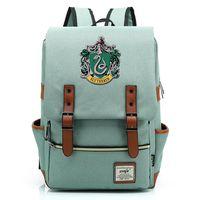 Gift Fashion Magic School Snake Lion Eagle Buckle Children School bag Teenagers Student Schoolbags Women Bagpack Men Backpack