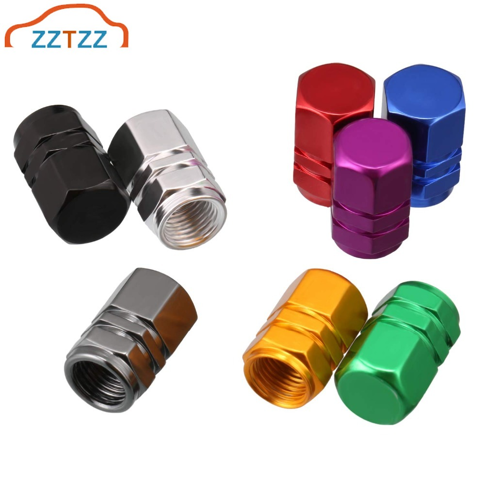 ZZTZZ 12Pcs/lot Universal Car Moto Bike Tire Wheel Valve Cap Dust Cover Car Styling For Universal Cars Motorcycle Decorative
